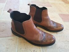 Men's Next Tan Carter Brogue Chelsea Boots Size 10