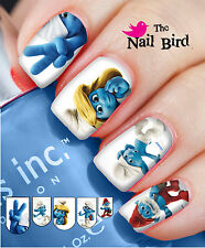 Nail Art Nail Decals Nail Transfers Natural/Acrylic Nails - SMURFS 2