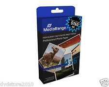 Mediarange Carta fotografica patinata lucida (glossy-coated) 220g 100x150mm