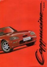 Suzuki Cappuccino 660cc 1993-95 UK Market Foldout Sales Brochure