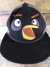 ANGRY BIRDS Black Snapback Youth Cap Hat