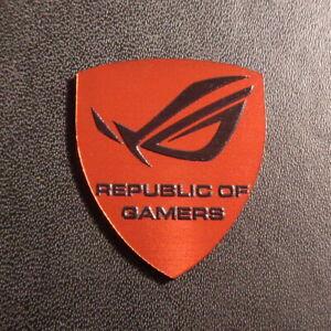 ASUS Republic of Gamers ROG Label / Badge / Sticker / Logo 27 x 30mm [189e]