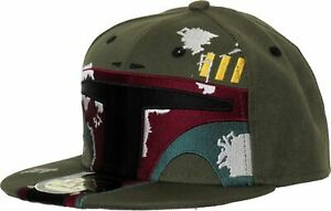 Star Wars The Mandanlorian Boba Fett Helmet Snapback Cap