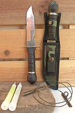 Couteau de survie+2 Lightsticks+Scie à bois+Accessoires Chasse Peche Survie