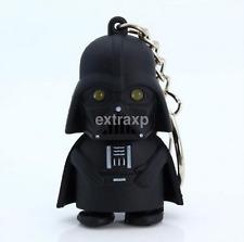 Fashion Red Light Up LED Star Wars Darth Vader With Sound Keyring Gift Hot CA