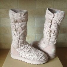 UGG KALLA DUSK CABLE KNIT / SHEEPSKIN TALL SHORT BOOTS US SIZE 11 WOMENS
