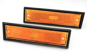 NEW Front Side Marker Lights w/Black Trim 81-91 K5 Blazer Suburban Corner Lamps