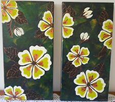 SET OF 2 X ORIGINAL PAINTINGS ACRYLIC ON CANVAS 'MAGNOLIAS' SIGNED S. SMITH