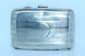 SMALL ANTIQUE STERLING SILVER CIGARETTE CASE BIRMINGHAM 1917 WELL USED