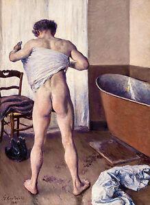 Gustave Caillebotte, Man at His Bath Homme au bain 1884, Art Museum Canvas Print