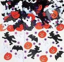 Halloween Night Metallic Table Confetti Sprinkles Bats Pumpkin Ghost Witch