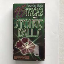 25 Amazing Magic Tricks with Sponge Balls Vhs Tape Vintage Magic 1995