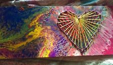 Pour Painting Embelished With Heart String Art