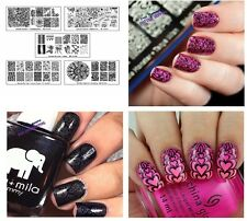 Bundle Monster 5pc Blogger Collaboration Nail Art Polish Stamping Plates - Set 2