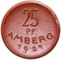 Amberg - Münze - 25 Pfennig 1921 - Meissen - Porzellan