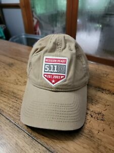 Men's 5.11 Tactical Mission Ready Est. 2003 Beige Adjustable Hat Cap 511