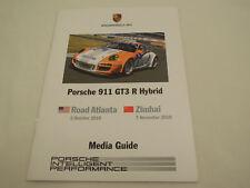 Porsche 911 GT3 R Hybrid Press Media Information Kit 2010, Ships from USA