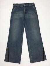 Armani jeans uomo usato bootcut zampa w32 tg 46 blu usato denim boyfriend T3375