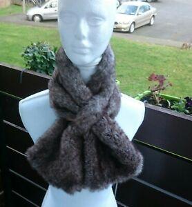 Vintage mink color  faux fur collar- neck collar/Vintage collar