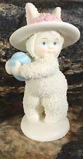 Dept 56 Snowbunnies Figurine W/ Easter Egg & Bonnet