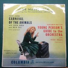 Markevitch Carnaval De Los Animales/joven's Guide Vinilo Columbia 33CX1175