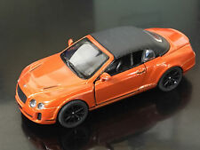 "5"" Kinsmart 2010 Bentley Continental Convertible Diecast Model Car 1:38 Orange"