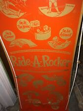 Super Rare Antique Vintage 1950s 60s Pull Toy Sled With Amazing Graphics Scarce