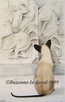 Siamese Cat art print Parthenon large from original painting by Suzanne Le Good