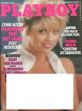 Dutch Playboy Magazine 1987-10 Sandy Greenberg, Lynne Austin, Christine Sol ...