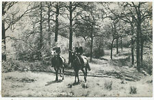 Riding in Ruislip Woods, 1948 postcard