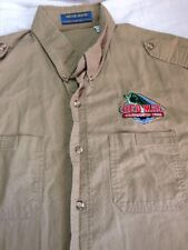 Bear Back Fishing Shirt Xl Rugged Dependable Red Man Tournament Trail Bass