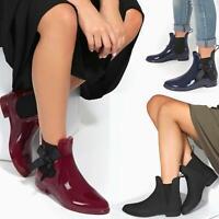 Womens Ladies Wellies Wellington Boots  Rain Waterproof Ankle Festival Shoes