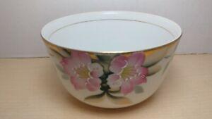 Vintage Noritake Azalea Pattern Cranberry Bowl 5 1/4 inches