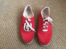 LACOSTE RED SUEDE PUMPS SIZE 6