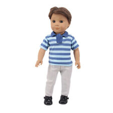 """Fits 18""""Inch Handmade Accessories Modern Doll Clothes Cartoon Striped Suit"""
