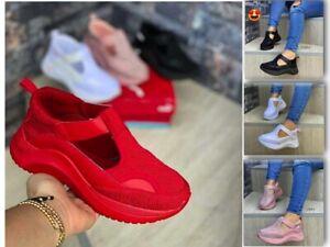 Women Platform Running Sneakers Shoes Ladies Girls Thick Bottom Mesh Jogging