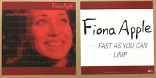 FIONA APPLE Rare 1999 Set 2 DOUBLE SIDED PROMO POSTER FLAT for When the CD MINT