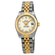 Rolex Lady Datejust 26 White With 10 Diamonds Dial Stainless Steel and 18K
