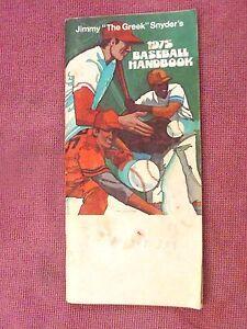 "Jimmy ""The Greek"" Snyder's 1975 Baseball Handbook"