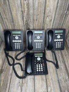 Lot of 4 Avaya 1408 Black Digital Business Office IP Phones 1408D02A-003