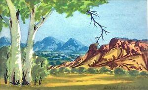 Fantastic Arnulf Ebatarinja  Hermannsburg School Original Watercolour