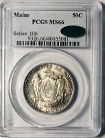 1920 Maine Commemorative Silver Half Dollar - PCGS MS 66 -  Mint State 66 CAC