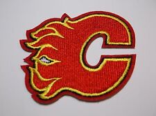 "Calgary Flames Embroidered Patch~3"" x 2 5/8""~Iron Sew On~US Seller~Ships FREE"