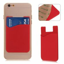 3M Adhesive Sticker Silicone Cellphone Back Cover Card Pouch Case Stand Holder