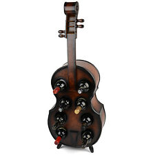 Wood Wine Rack Wooden Violin Bottle Holder Holds 8 Bottles Christow Furniture