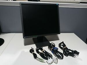 """EIZO Flexscan S1701 17"""" LCD Monitor w/ Stand Speakers Power DVI VGA Sound Cables"""