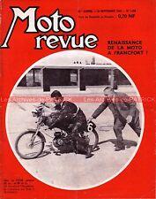 MOTO REVUE 1508 PALOMA 50 Critérium de Montlhéry Salon FRANCFORT FRANKFORT 1960