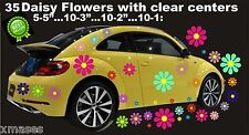 DAISY FLOWER 35 WALL  VINYL DECALS STICKERS DIE CUT RETRO COLORS CAR TRUCK