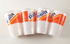 1980 Soviet Russian COCA COLA FANTA set of 4 Cups Moscow Olympic Games