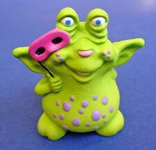 BUY1&GET1@50%~Hallmark MERRY MINIATURES Halloween MONSTER GREEN Vtg Figurine